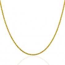 "22ct 916 Hallmark Yellow Gold 18"" Solid Rope Chain PC57"