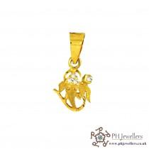 22ct 916 Yellow Gold Ganesh Pendant CZ RP2