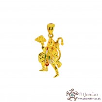 22ct 916 Hallmark Yellow Gold Hanumanji Pendant CZ RP32