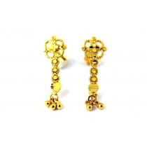 22CT 916 Yellow Gold  Dangle Small kids Stud Tops Earrings CZ SE121