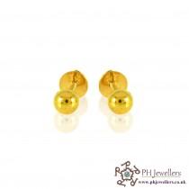 22ct 916 Yellow Gold Ball Earring SE20