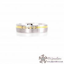 925 Sterling Silver Size W Rhodium Ring CZ SIWB10
