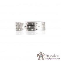 925 Sterling Silver Size S Rhodium Ring SIWB5